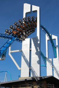 Gatekeeper at Cedar Point.  This was one of it's first test flights!!!