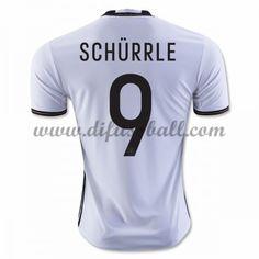 Nationaltrikot Deutschland 2016 Schurrle 9 Kurzarm Heim Fußballtrikots