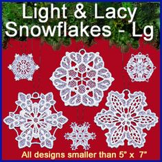 Machine Embroidery Designs at Embroidery Library! - Lace - Snowflakes & Winter