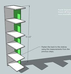 Ana White   Build a Puzzle Bookcase   Free and Easy DIY Project and Furniture Plans