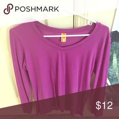Lucy Activewear Long Sleeve V Neck Magenta colored long sleeve top! Nice stretchy fabric, great for layering Lucy Tops Tees - Long Sleeve