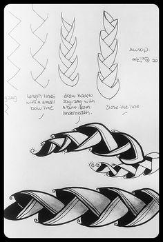 zentangle pattern aworp judy Murphy
