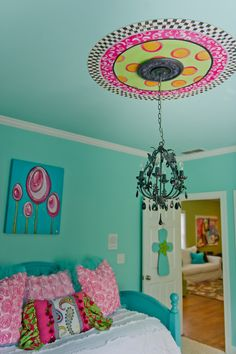 Nice Tween Girl Bedroom Ideas Must Haves: Great Color Idea Applied In Tween Girl Bedroom Ideas Combined With Pink Color On Ceiling Unit For Best Room Interior Plan