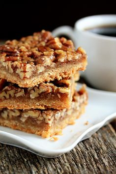 pecan bars - make sure to follow the directions where the corn syrup is concerned..mine taste great, but are soft and sticky..not bar like..I may have under cooked as well, as my oven has the flu ..or a virus..lol.  LaRee