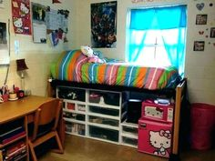 Your dorm room with these organization ideas college shelves storage trunks . college dorm shelves plastic storage drawers no damage College Dorm Storage, Dorm Room Storage, Dorm Room Organization, College Dorm Rooms, Organization Ideas, Bed Storage, Closet Storage, Storage Drawers, Bathroom Storage