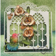 Heartfelt Creations - Hummingbird With Peach Orchids Project