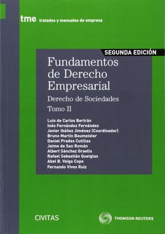 Fundamentos De Derecho Empresarial II. Javier Wenceslao Ibañez Jimenez. Máis información no catálogo: http://kmelot.biblioteca.udc.es/record=b1472950~S1*gag