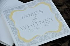 Wedding Program (Mary)--$132.50 for 150