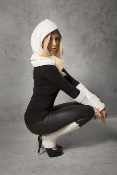 Shanks Knitwear Set Off White © alexreinprecht. Wet Look, Shank, Off White, Knitwear, High Heels, Winter Jackets, Cap, Collection, Fashion
