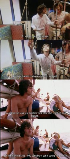 """Jim Morrison from the documentary, """"when you're strange"""". Music Love, Music Is Life, Rock Music, The Doors Jim Morrison, The Doors Of Perception, Riders On The Storm, American Poets, Light My Fire, Super Quotes"""