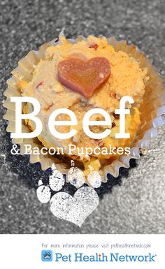 "Say ""I Love You!"" with Beef & Bacon Pupcakes!"