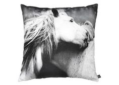 """fancy """"playing horses"""" cushion, 60x60 cm by nord 
