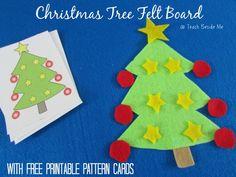 tree felt, christma tree, felt board, christmas trees
