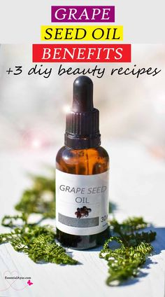 10 Uses of Grape seed oil |  3 DIY beauty recipes. Grape seed oil saves my skin. And here I share my 3 of popular DIY grape seed oil beauty recipes. It provides antioxidants for your skin, retains moisture and contributes to achieving youthful-looking skin by helping to prevent wrinkles for as long as possible. #grapeseedoil #diybeautyrecipes #benefits #howtouse