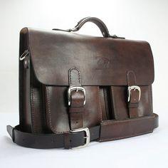 Vintage Men's Women's Leather Messenger by WhiteBuffaloRepublic