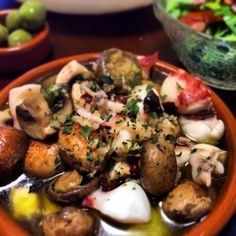 Octopus and Mushroom Ajillo in 5 Minutes