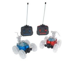 Set of 2 Lil TurboTwist Remote Control Light-Up Stunt Vehicles - These are so cool!