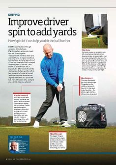 Improve spin to add yards to your drives #golf #tips #instruction #golfer #swing #golftips #golfswing