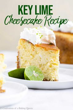 This easy recipe for a tangy key lime cheesecake will be a new favorite! The perfect combination of tangy and sweet this key lime cheesecake is a spin-off of a key lime pie. This cheesecake starts with a gorgeous graham cracker crust, filled with a thick, Cheesecake Oreo, Cheesecake Toppings, Key Lime Cheesecake, Cheesecake Recipes, Dessert Recipes, Raspberry Cheesecake, Easy Gluten Free Desserts, Delicious Desserts, Pavlova