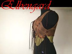 Vest Bodice Woman Leather amber Horn Festival Top von Elbengard