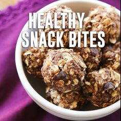 Healthy Snack Bites recipe - These healthy snack bites take less than TEN minutes to make and you probably have all of the ingredients in your pantry. My boys adore them! Great after-school or anytime snack with no preservatives or added sugar! Healthy Afternoon Snacks, Healthy Snacks For Kids, No Bake Snacks, Yummy Snacks, Snack Video, Good Smoothies, Cooking Recipes, Healthy Recipes, Healthy Food