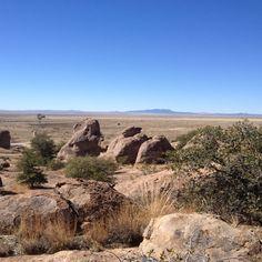 More flat desert around the park