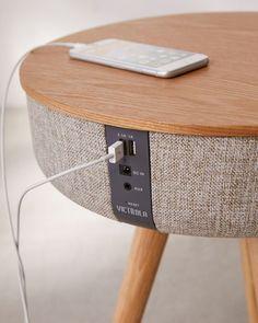 Slide View: Victrola Bluetooth Speaker Table SP Home Design Smart Furniture, Design Furniture, Rustic Furniture, Decor Interior Design, Furniture Decor, Living Room Furniture, Antique Furniture, Outdoor Furniture, Furniture Outlet