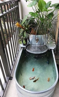 New house pond - balcony decoration - conservatory ideas- Neuer Hausteich – Balkondekoration – Wintergarten Ideen New house pond – balcony decoration / # Balcony decoration pond garden decorations - Outdoor Projects, Garden Projects, Diy Projects, Dream Garden, Garden Art, Easy Garden, Indoor Water Garden, Small Water Gardens, Water Falls Garden