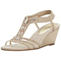 Brand: New York Transit Heel Height: 2 in - 3 in Style: See description for more details. Womens Closet, Wedding Flats, Pumps, Heels, Davids Bridal, T Strap, Wedge Sandals, Women's Shoes