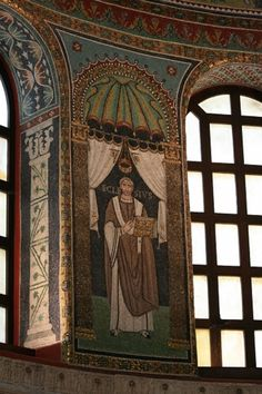 Sant'Apollinare in Classe: mosaic of Ecclesius, Bishop of Ravenna - Italy #Byzantine