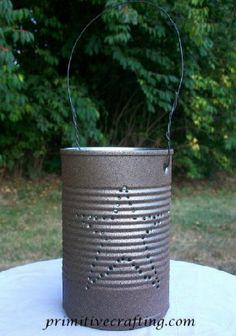 DIY Luminary! Rusty Tin Primitive Craft!
