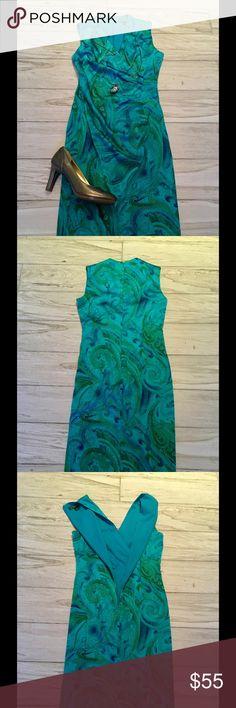 Lauren Ralph Lauren Stunning Silk Dress, NEW!! NWOT!! Elegant dress! Beautiful Paisley Print on Exquisite Silk!! Lauren Ralph Lauren Dresses