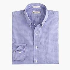 Slim Thomas Mason® for J.Crew shirt in baltic mini-gingham : Men Thomas Mason | J.Crew