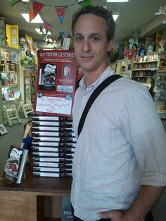 """May 26, 2012--Trenton Lee Stewart stopped by Square Books JR to sign copies of his new book, """"The Extraordinary Education of Nicholas Benedict."""""""