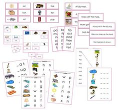 This bundle includes 14 Montessori Pink Language Series materials. These materials are all based on phonetic 3-letter words. Instructions on how to present this
