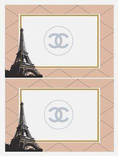 Kit de Chanel para Imprimir Gratis.