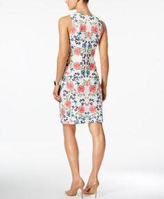 Charter Club Floral-Print Sheath Dress, Only at Macy's   macys.com