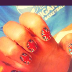 Yay did them :) #nails #britishnails #britain #onedirection