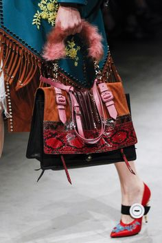 7d18f1f7f526 Prada Fall 2017 Ready-to-Wear Collection Photos - Vogue Ladies Handbags,  Ladies