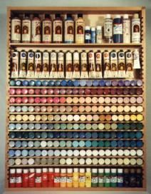 Another way to organize your paint from bruceswoodworks.com