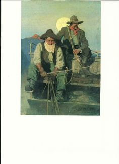 """""""The Pay Stage"""" by N.C. Wyeth."""