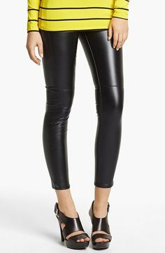 Bought them! MICHAEL Michael Kors Faux Leather Leggings available at #Nordstrom