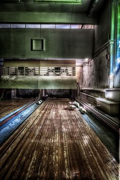 Dilapidated alley... bowling alley.