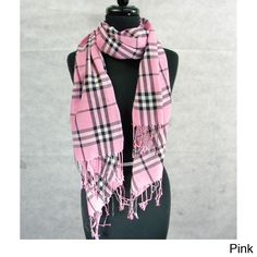 Fashion Scarf Pashmina Medium Plaid with Fringe   Overstock.com Shopping - The Best Deals on Scarves & Wraps