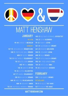 Matt Henshaw's Adventures In Wonderland: Peace, Love & Tea European Tour Dates with Matt He...