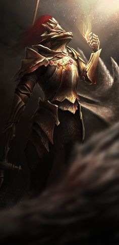 Dark Souls - Dragon Slayer Ornstein ((who's actually still alive in dark souls 2!!!))