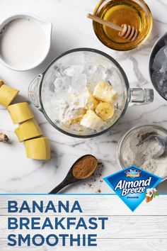 With Almond Breeze Almondmilk, you can add even more flavor to your morning smoothie. They are quick, easy, and delicious with a variety of flavors to enjoy.Throw it in a blender, top it off with your favorite almond butter and voila! Breakfast is served. Breakfast Smoothies, Healthy Smoothies, Healthy Drinks, Smoothie Recipes, Healthy Snacks, Breakfast Recipes, Healthy Recipes, Morning Smoothies, Breakfast Ideas