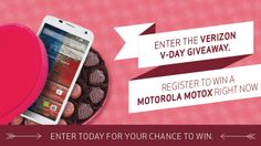 Can you hear the birds singing? Smell the flowers? Taste the chocolate? This Valentine's Day, Verizon and Motorola want to celebrate by giving you a chance to win prizes every day between 2/1/14 to 2/14/14 to make your V-Day a little more special. Follow Verizon on Pinterest, register and you could win the #VerizonVDayGiveaway! #ad
