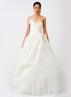 Spring 2011 white wedding dress from Vera Wang Bridal