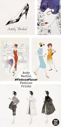 #FashionFriday comes to a close with a look at Andy #Warhol's often overlooked #fashion illustrations of models and shoes @EasyArtUK @HomeArtyHome